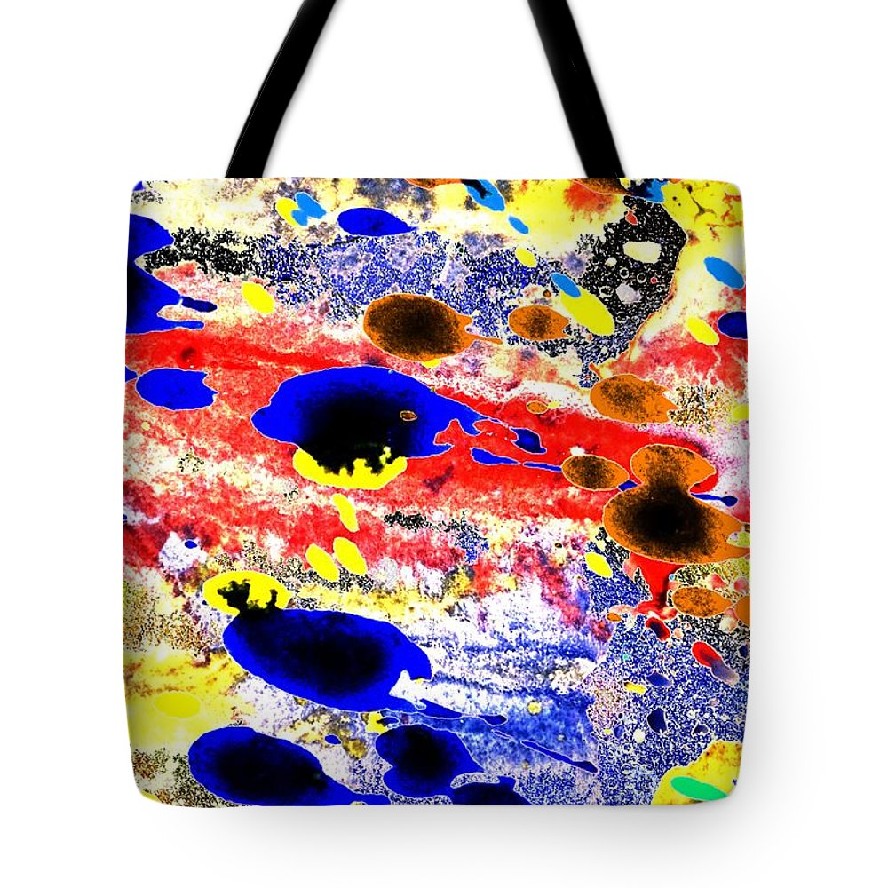 Abstract Tote Bag featuring the painting Just Abstract by Brian Raggatt
