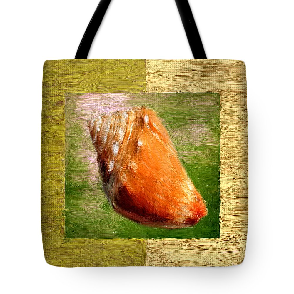 Seashell Tote Bag featuring the digital art Just Beachy by Lourry Legarde