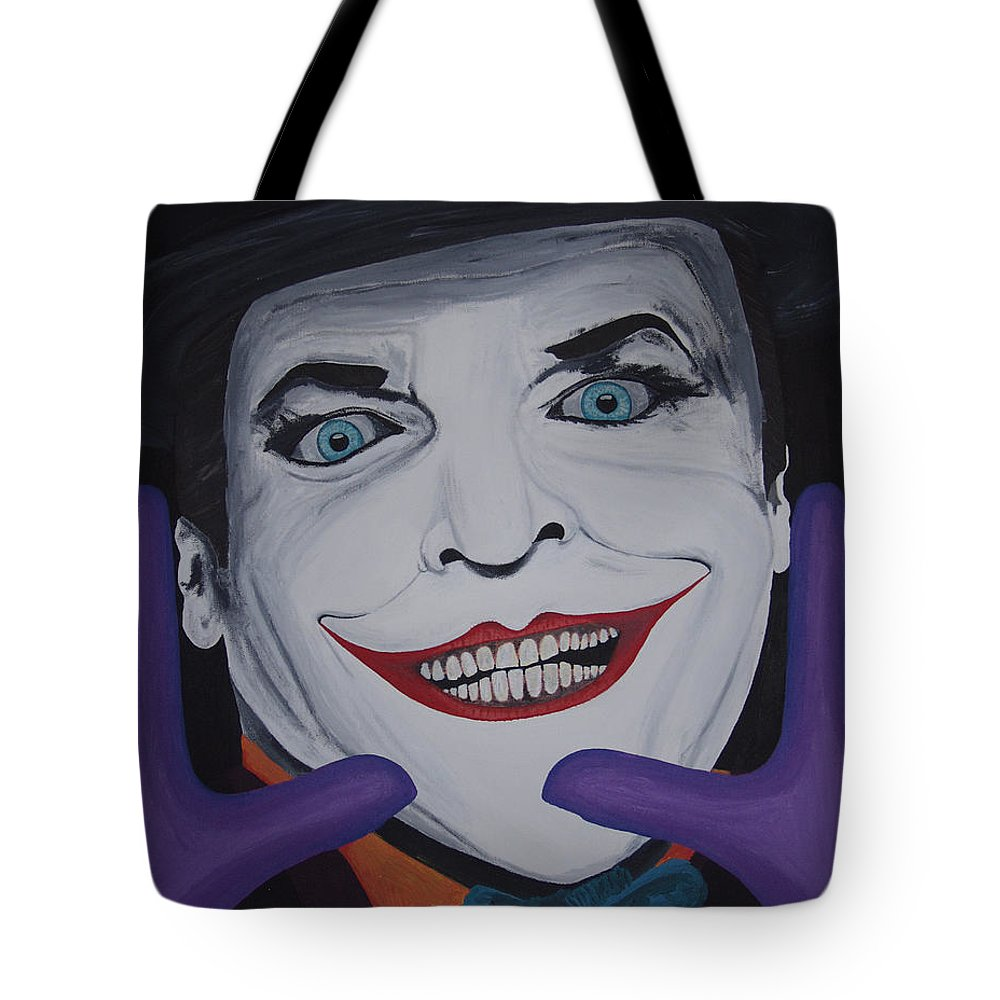 Colorful Tote Bag featuring the painting Just Jack by Dean Stephens
