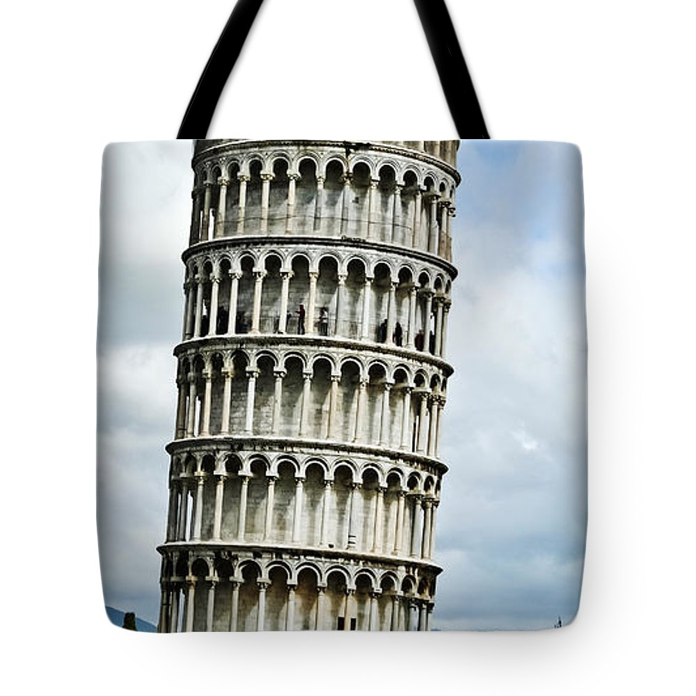 Travel Tote Bag featuring the photograph Just Leaning Not Falling by Elvis Vaughn