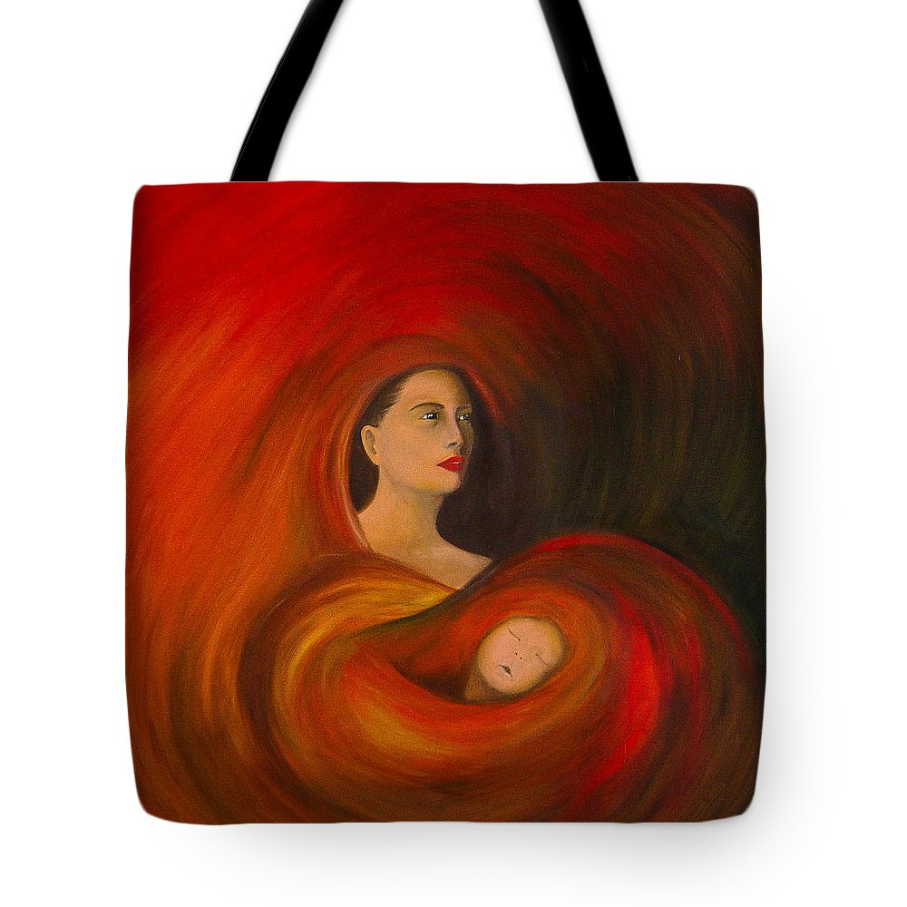 Verve Tote Bag featuring the painting ..just Love.. by Fanny Diaz