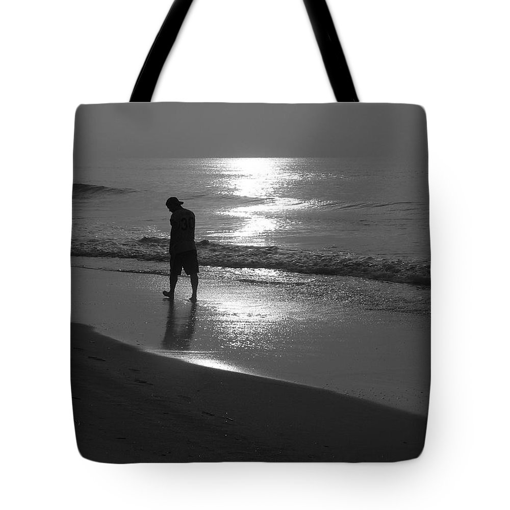 Beach Tote Bag featuring the photograph Just Me by Jeff Breiman