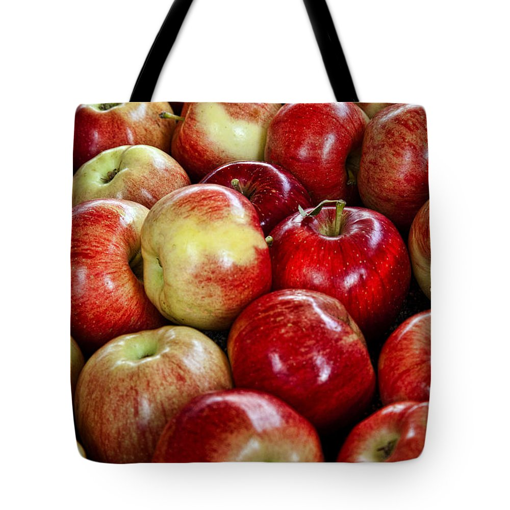 Apples Tote Bag featuring the photograph Just Picked by Diana Powell