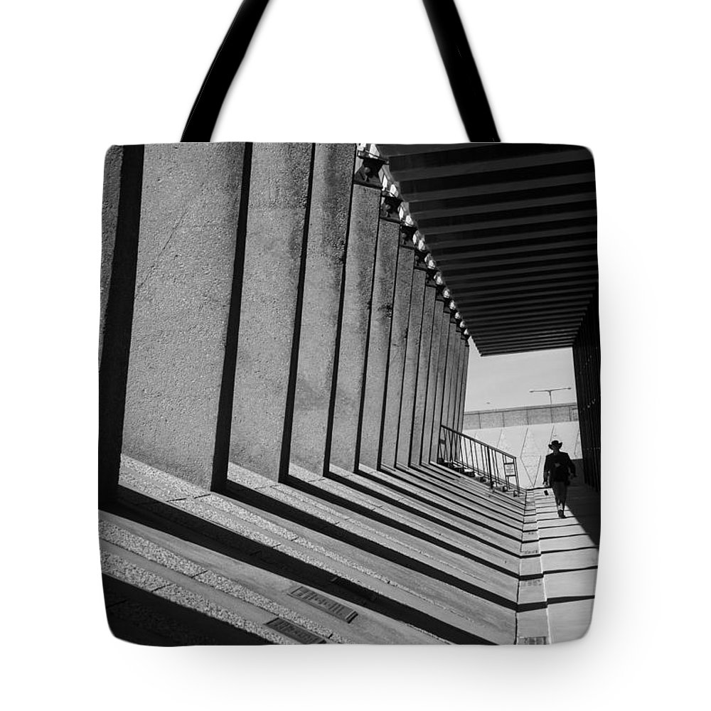 Lines Tote Bag featuring the photograph Just Slightly Askew by Alex Lapidus