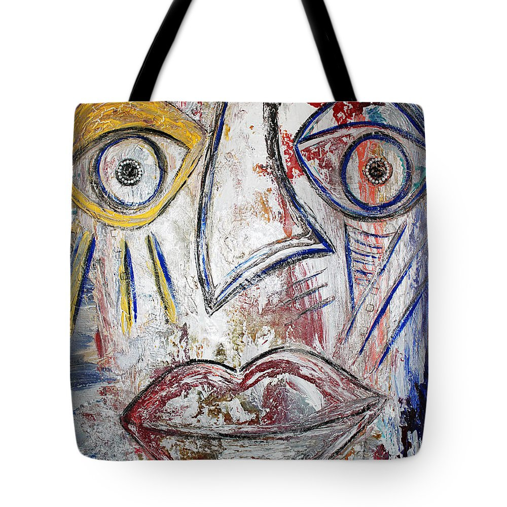 Happy Tote Bag featuring the painting Just Smile by Artista Elisabet