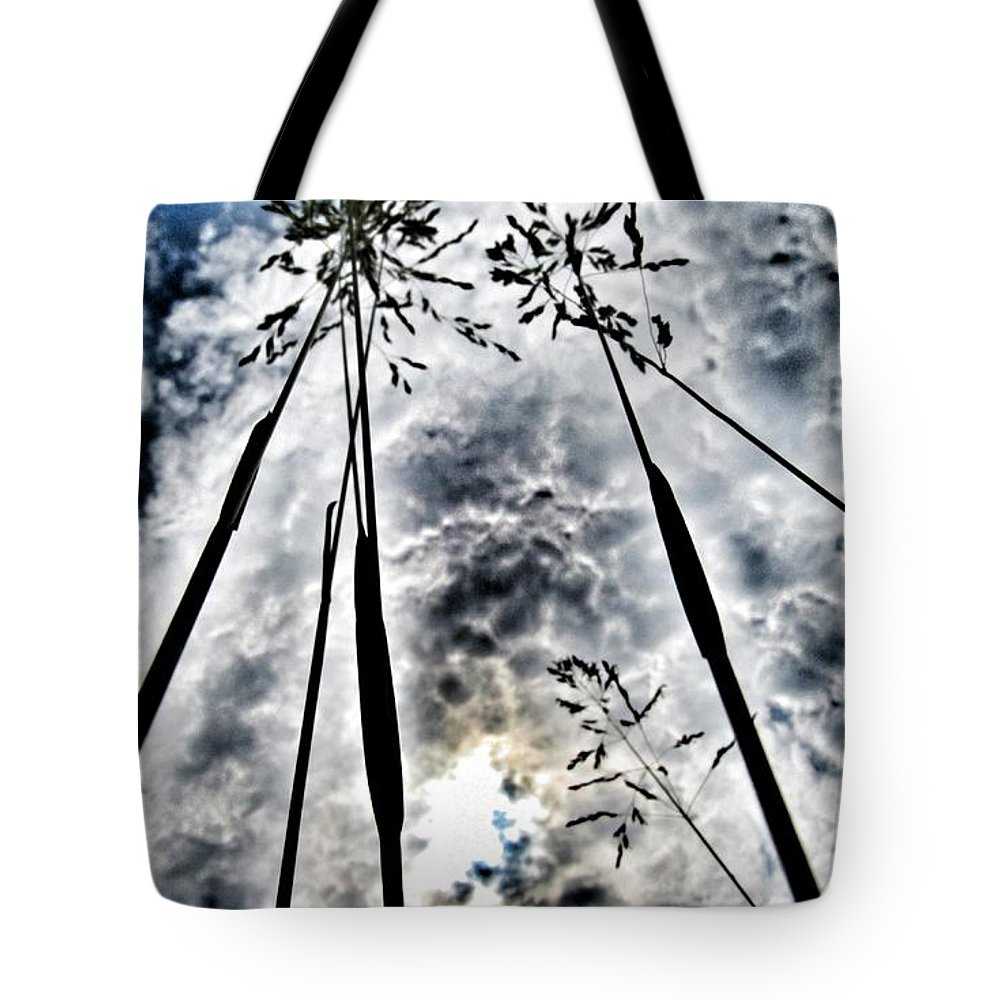 Grass Tote Bag featuring the photograph Just Too High... by Marianna Mills