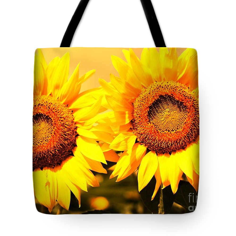 Sunflower Tote Bag featuring the photograph Just Two by Kathleen Struckle