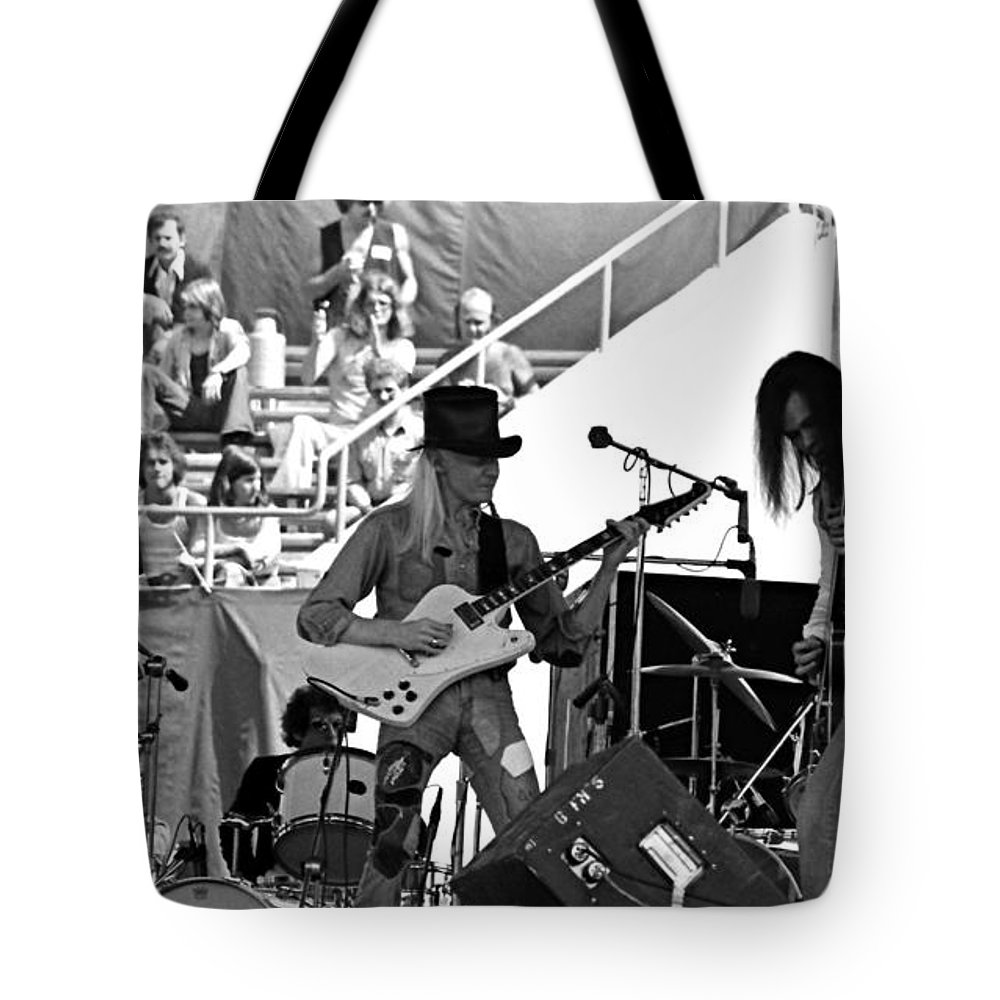 Johnny Winter Tote Bag featuring the photograph Jwinter #6 by Ben Upham