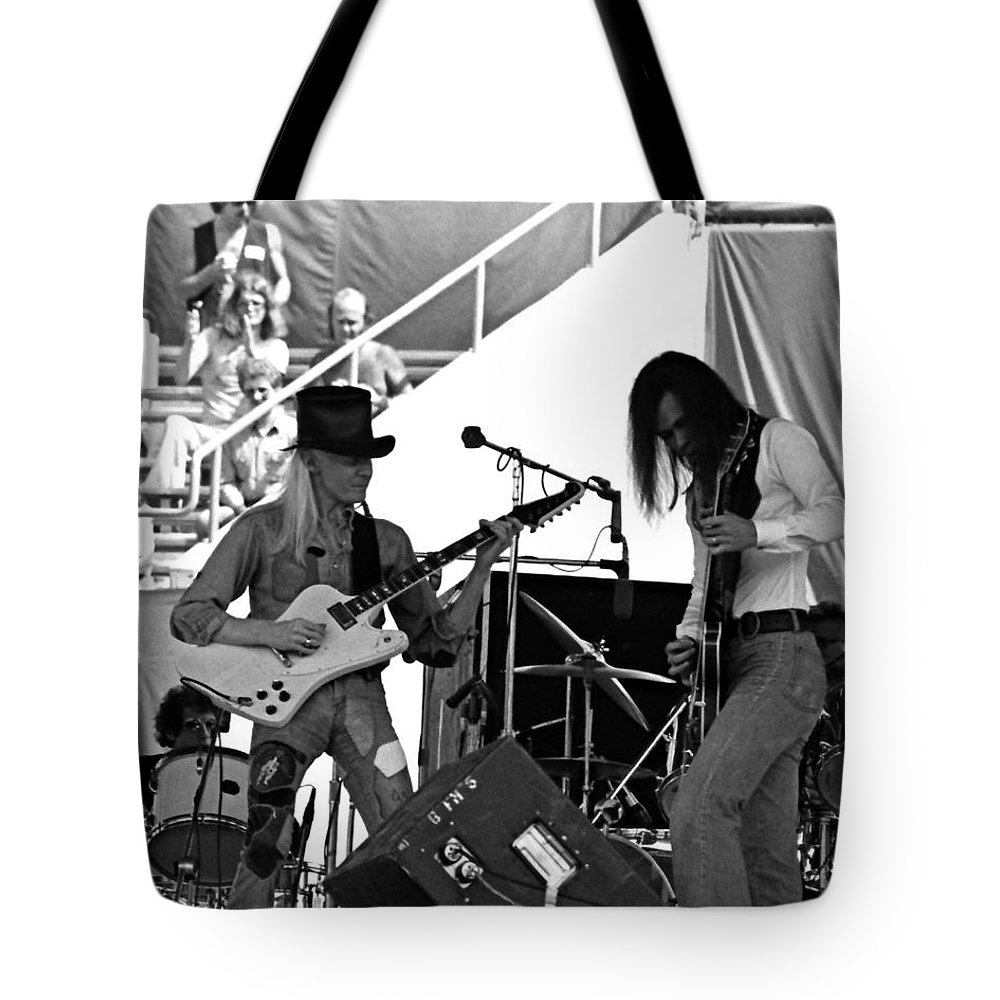 Johnny Winter Tote Bag featuring the photograph Jwinter #6 Crop 2 by Ben Upham