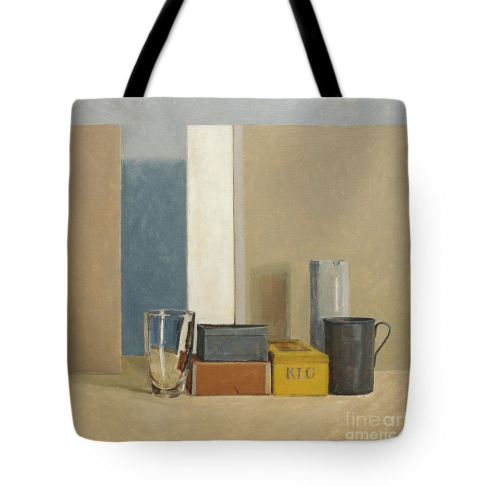 Still Life Tote Bag featuring the painting K L G by William Packer