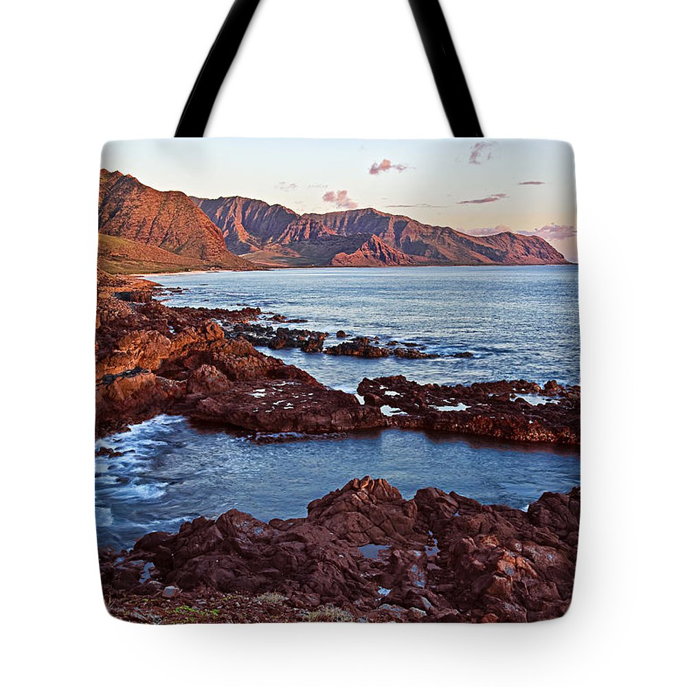 Landscape Tote Bag featuring the photograph Ka'ena Point Oahu Sunset by Marcia Colelli