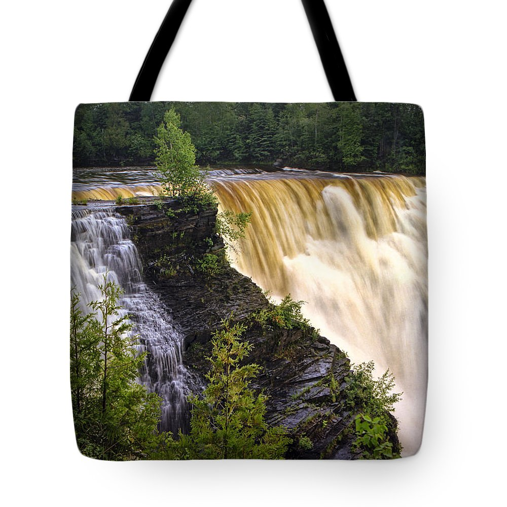 Art Tote Bag featuring the photograph Kakabeka Falls On The Kaministiquia River by Randall Nyhof