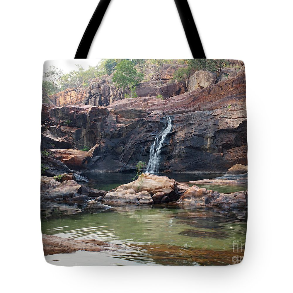 Gunlom Tote Bag featuring the photograph Kakadu Waterfall by Focus Far and Wide