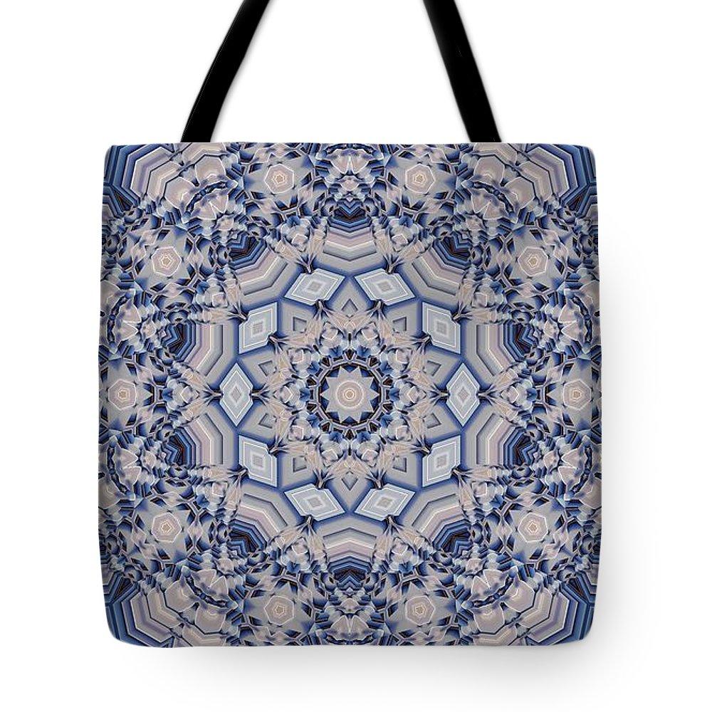 Kaleidoscope Tote Bag featuring the digital art Kaleidoscope 16 by Ron Bissett