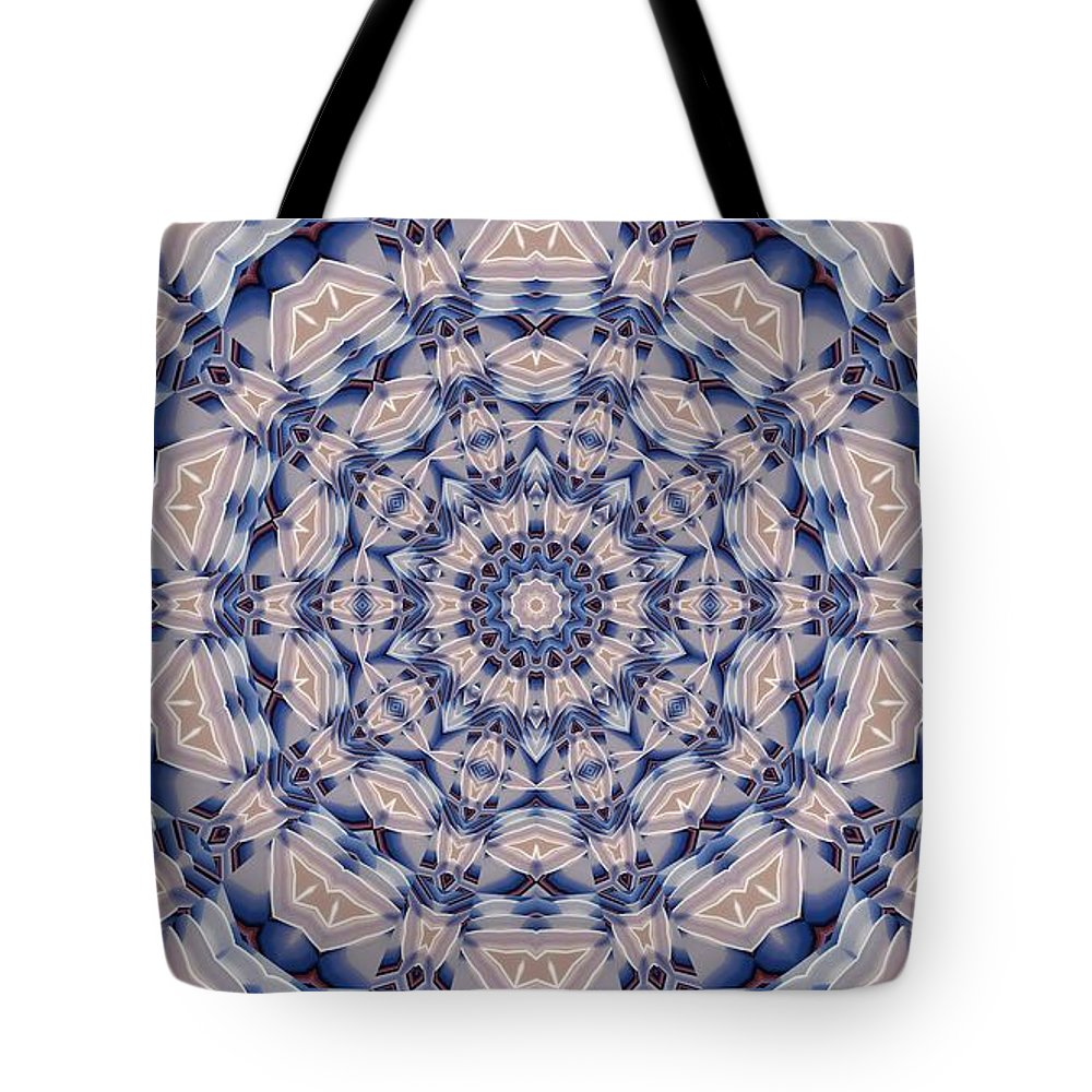 Kaleidoscope Tote Bag featuring the digital art Kaleidoscope 19 by Ron Bissett