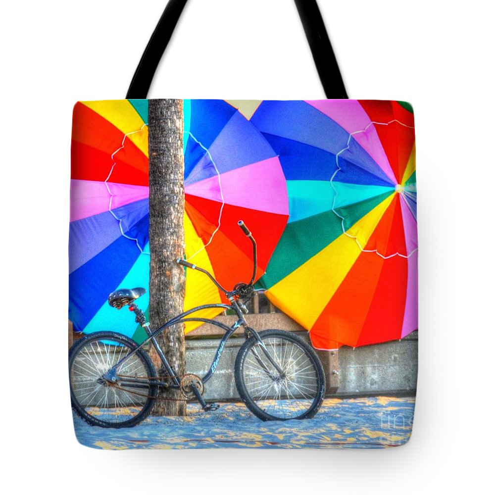 Bike Tote Bag featuring the photograph Kaleidoscope by Debbi Granruth