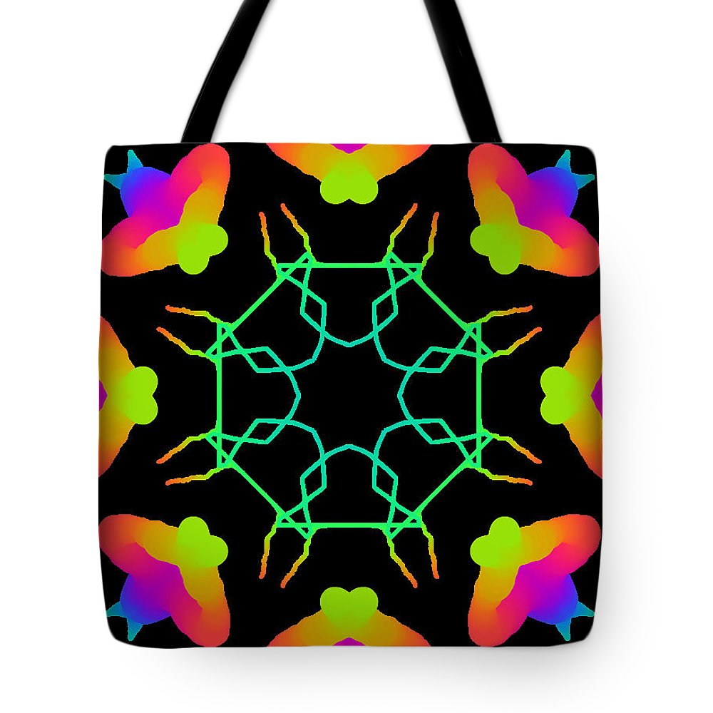 Kaleidoscope Tote Bag featuring the painting Kaleidoscope Drawing by Bruce Nutting