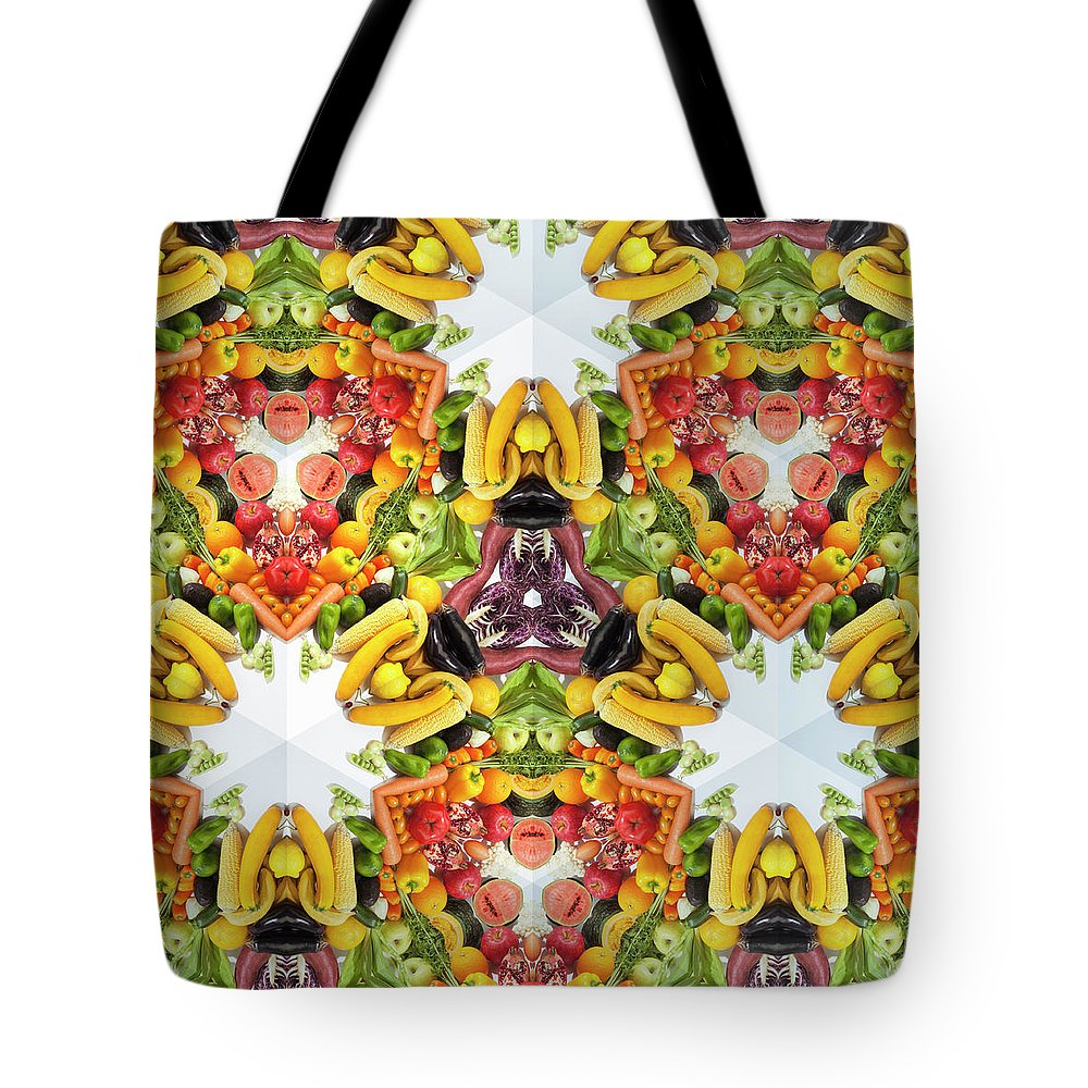 Full Frame Tote Bag featuring the photograph Kaleidoscope Of Colorful Vegetables And by Hiroshi Watanabe