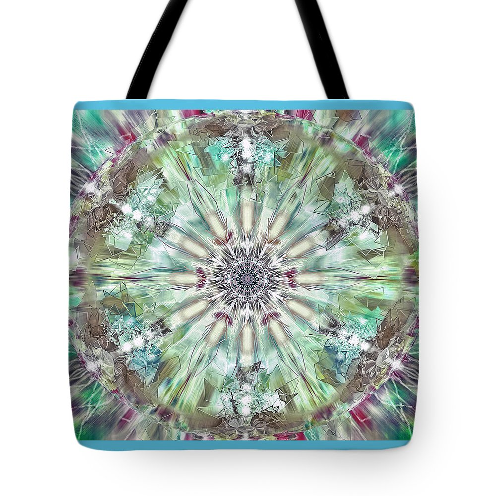 Kaleidoscope Tote Bag featuring the digital art Kaleidoscope by Savannah Gibbs