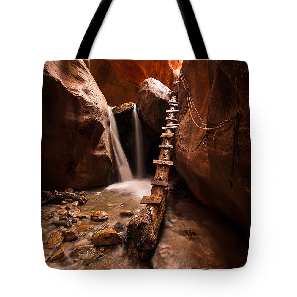 Waterfall Tote Bag featuring the photograph Kanarraville Classic by Dustin LeFevre