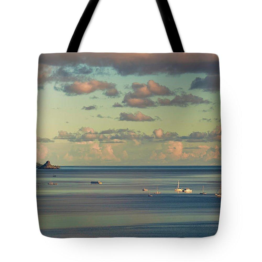Hawaii Tote Bag featuring the photograph Kaneohe Bay Panorama Mural 3 Of 5 by Dan McManus