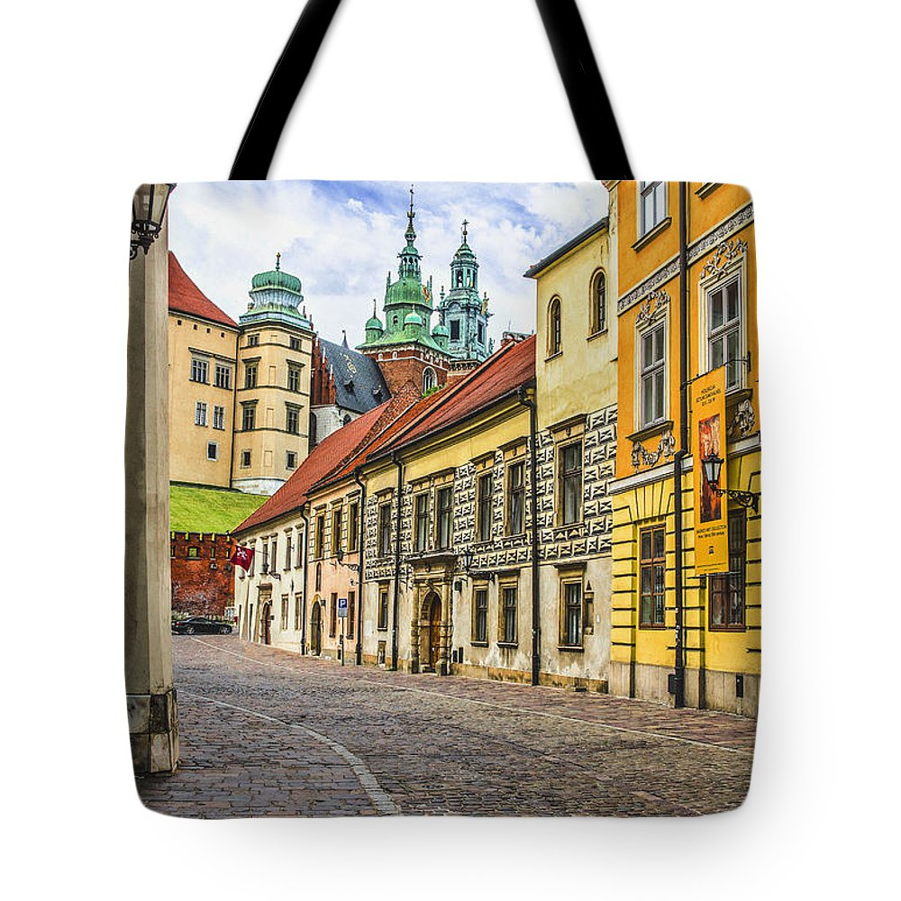 Tote Bag featuring the photograph Kanonicza Street Krakow Poland by Zbigniew Krol