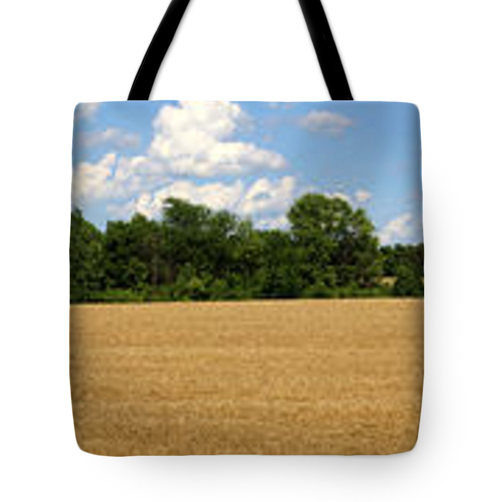 Wheat Tote Bag featuring the photograph Kansas Wheat Field 3a by Gary Gingrich Galleries