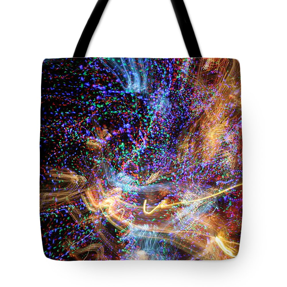 Abstract Tote Bag featuring the photograph Kapow by Ric Bascobert