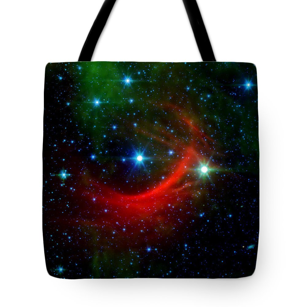 Kappa Cassiopeiae Tote Bag featuring the photograph Kappa Cassiopeiae Shock Wave by Jennifer Rondinelli Reilly - Fine Art Photography