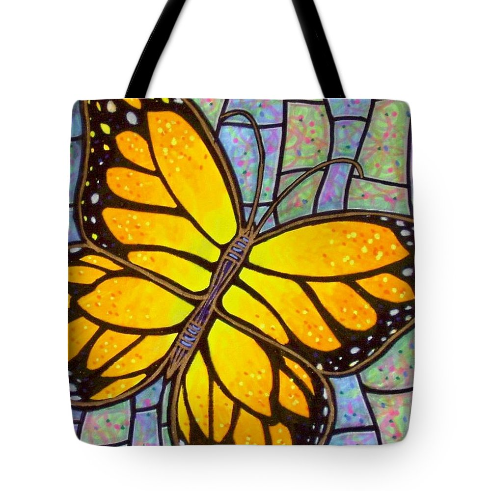 Butterflies Tote Bag featuring the painting Karens Butterfly by Jim Harris