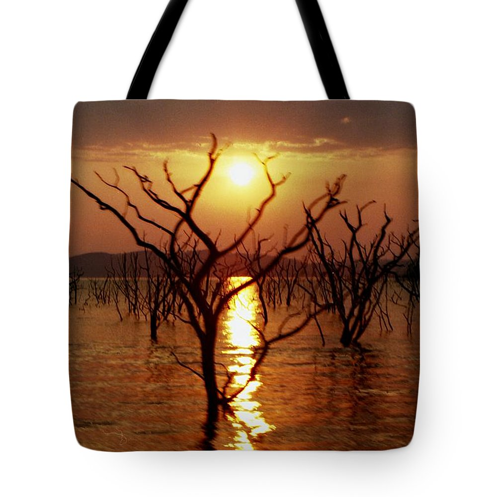 Sunset Tote Bag featuring the photograph Kariba Sunset by Jeremy Hayden