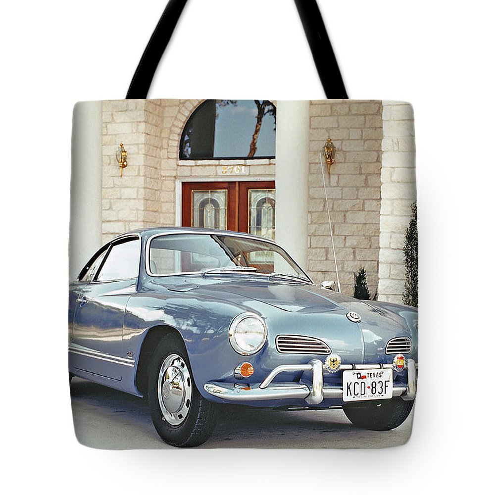 Sixties Cars Tote Bag featuring the photograph Karmann Ghia Coupe by Jim Smith
