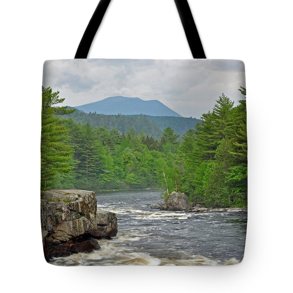 Crib Works Tote Bag featuring the photograph Katahdin And Penobscot River by Glenn Gordon