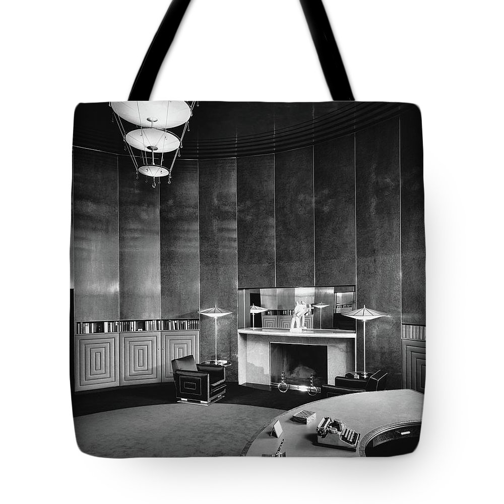 Interior Tote Bag featuring the photograph Katharine Brush's Study by F. S. Lincoln