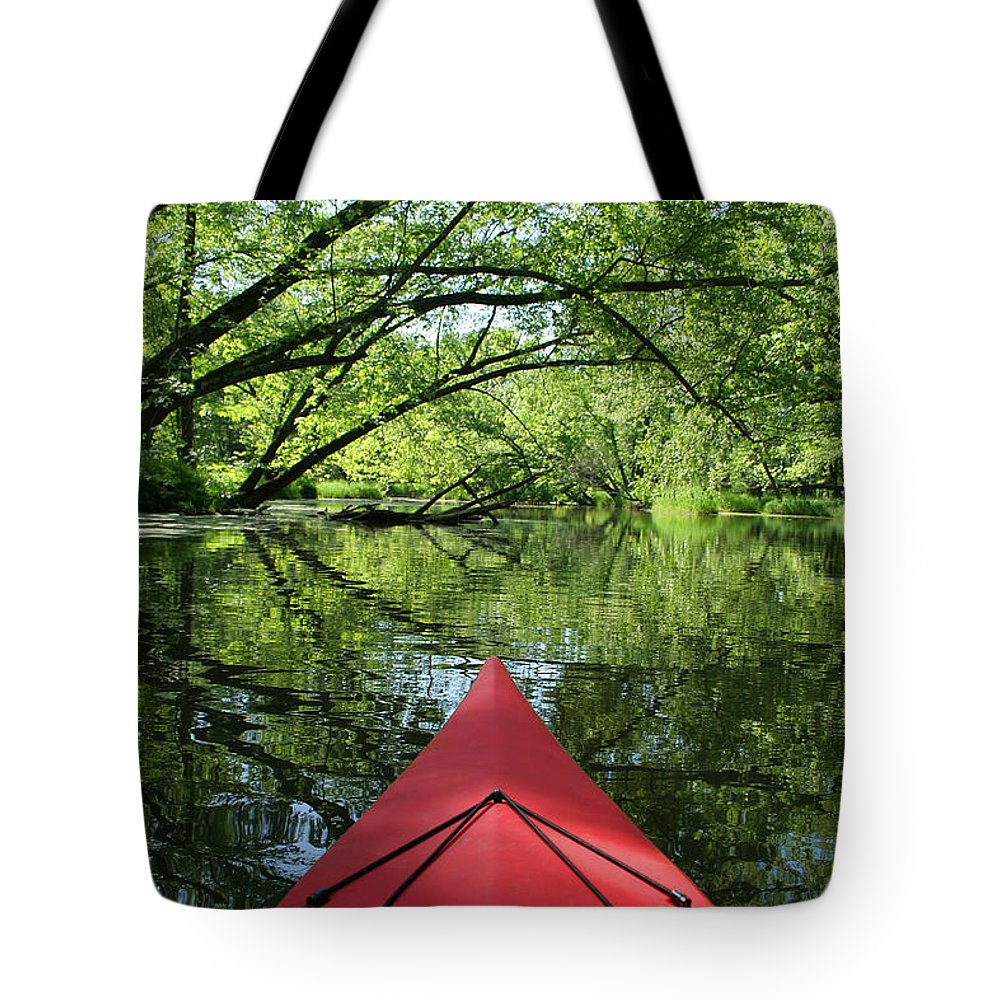 Activity Tote Bag featuring the photograph Kayaking Backwater Mississippi 1 by John Brueske