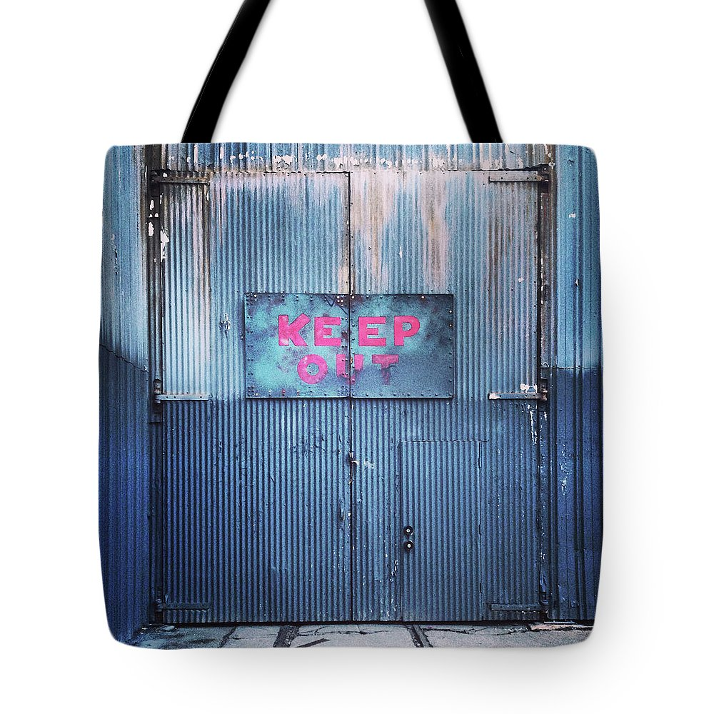 Tranquility Tote Bag featuring the photograph Keep Out by Hal Bergman Photography