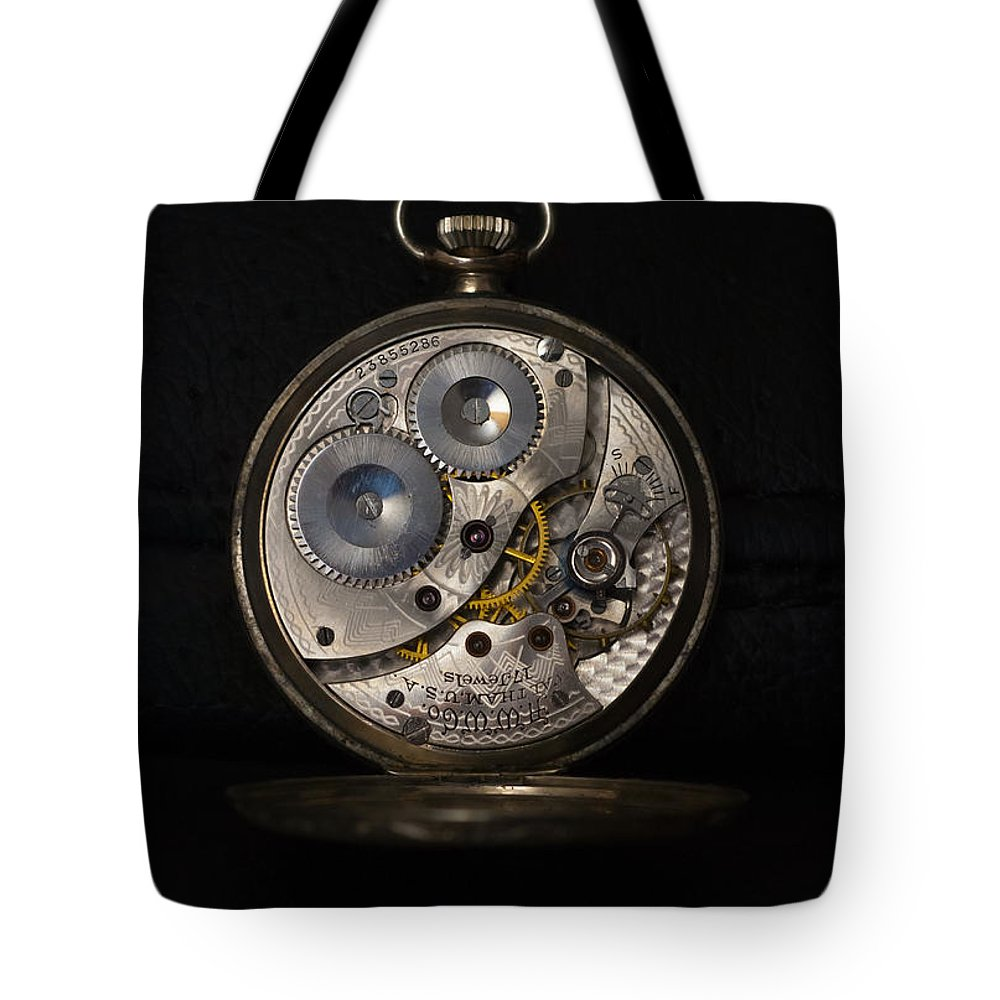 Antique Tote Bag featuring the photograph Keeping Time by Dennis Reagan