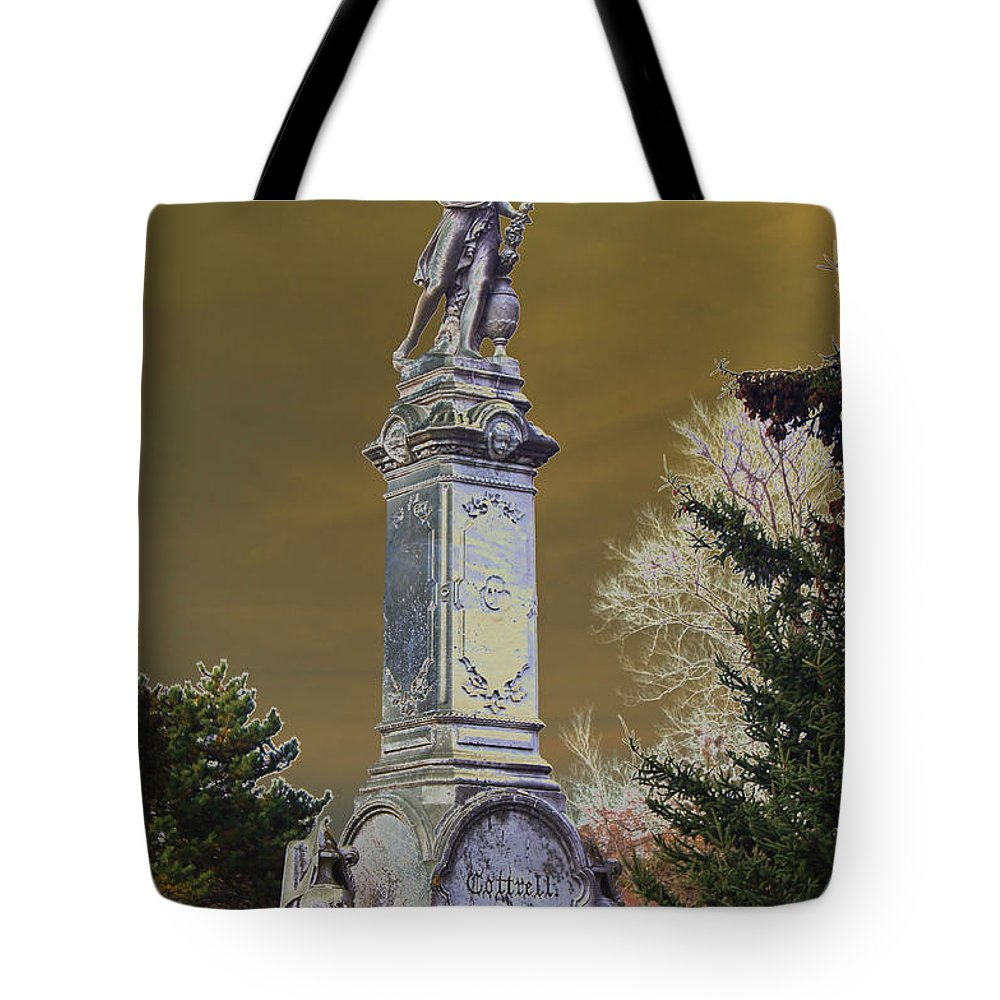 Statue Tote Bag featuring the photograph Keeping Watch         by Joe Geraci