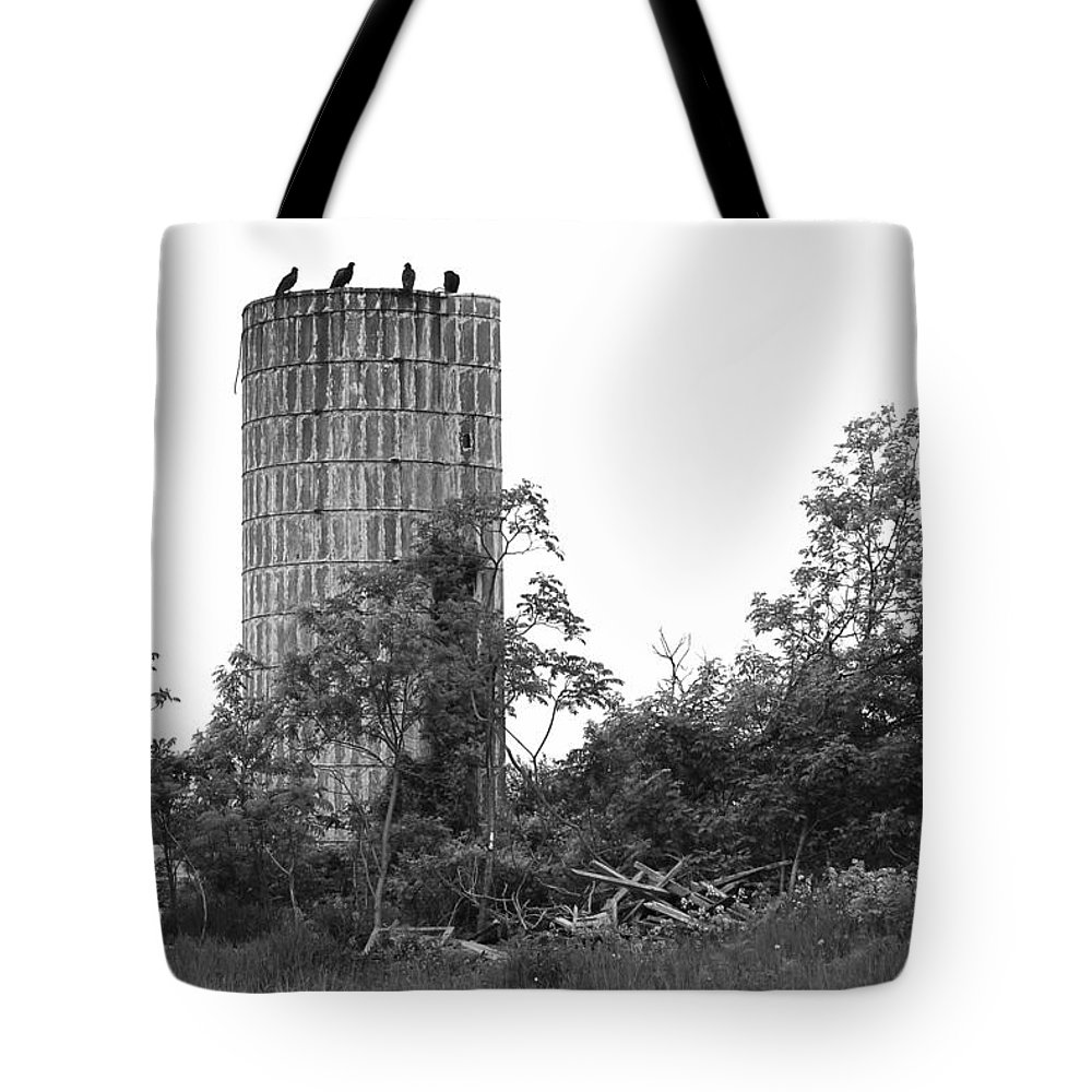 B/w Tote Bag featuring the photograph Keeping Watch by Marvin Borst