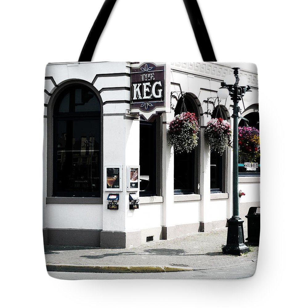 Street Photography Tote Bag featuring the photograph Keg by The Artist Project