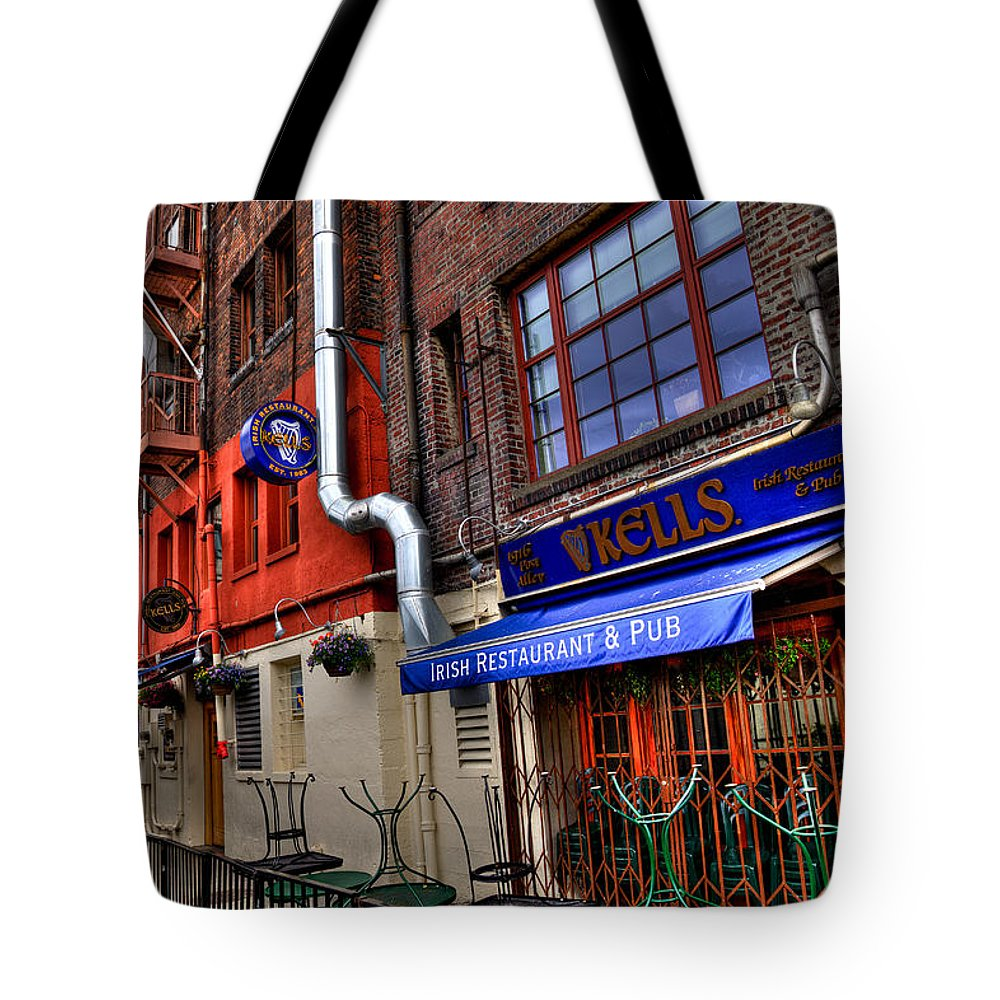 Pike Place Market Tote Bag featuring the photograph Kells Irish Restaurant And Pub - Seattle Washington by David Patterson