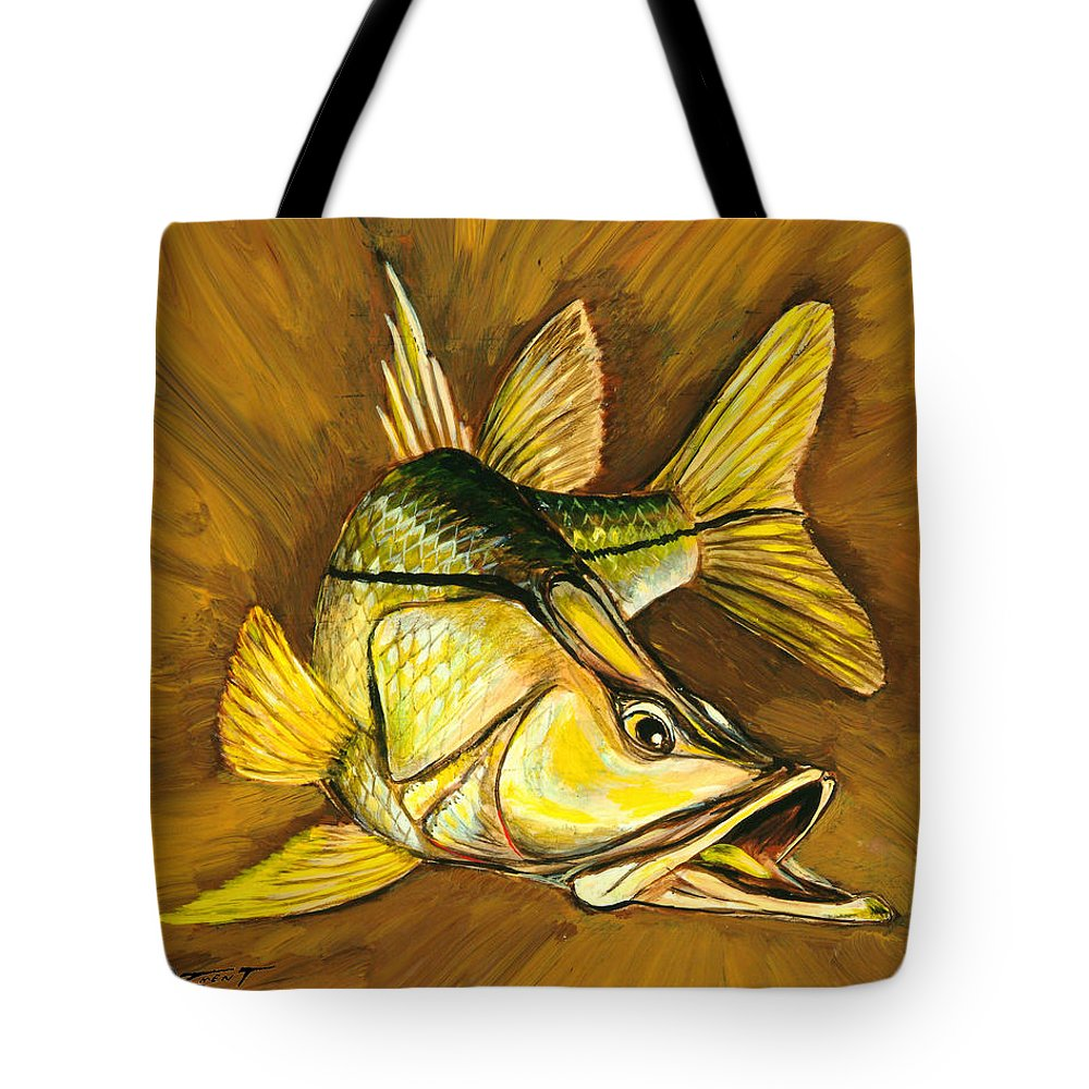 Snook Tote Bag featuring the painting Kelly B's Snook by Steve Ozment