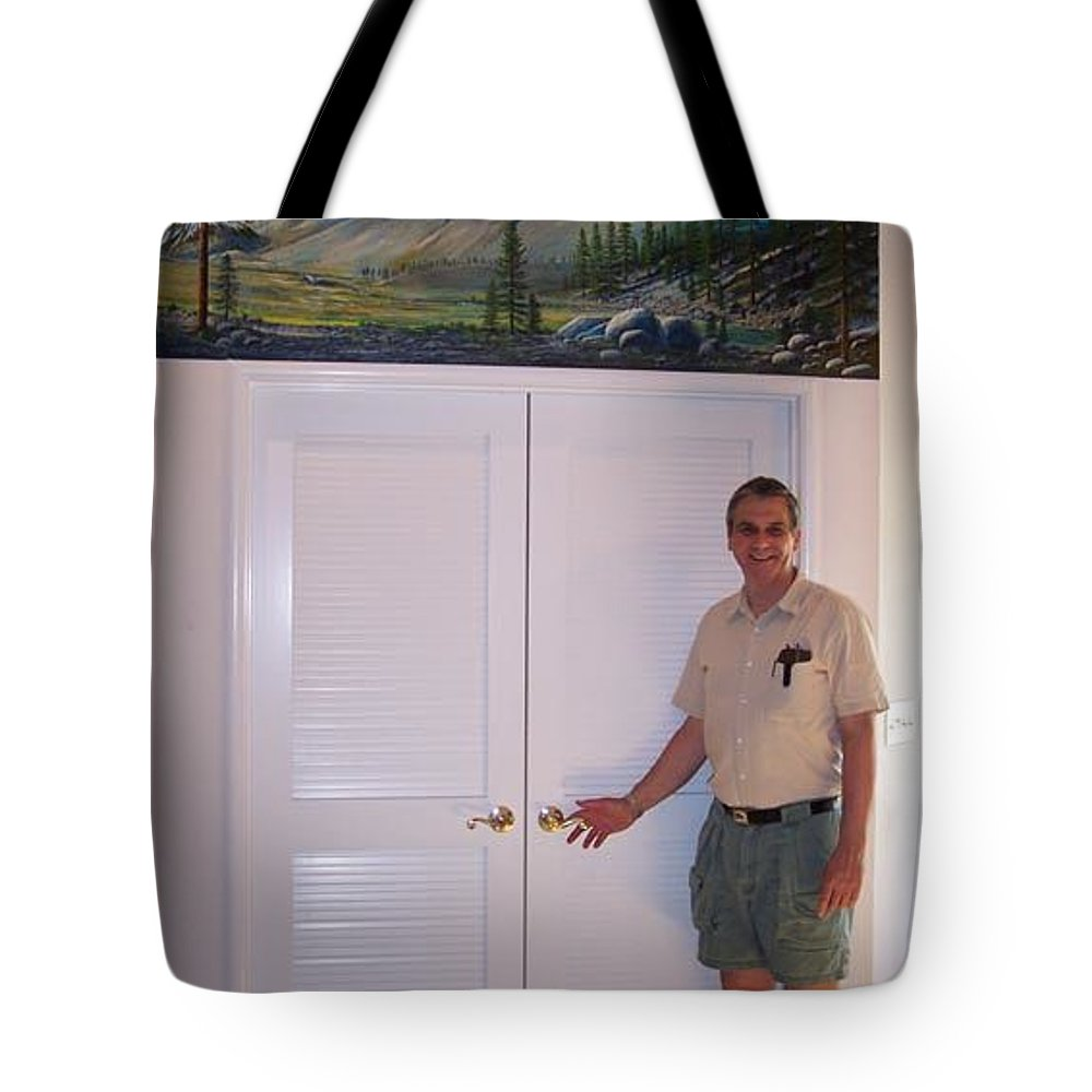 Mural Tote Bag featuring the painting Kennedy Meadows Mural by Frank Wilson
