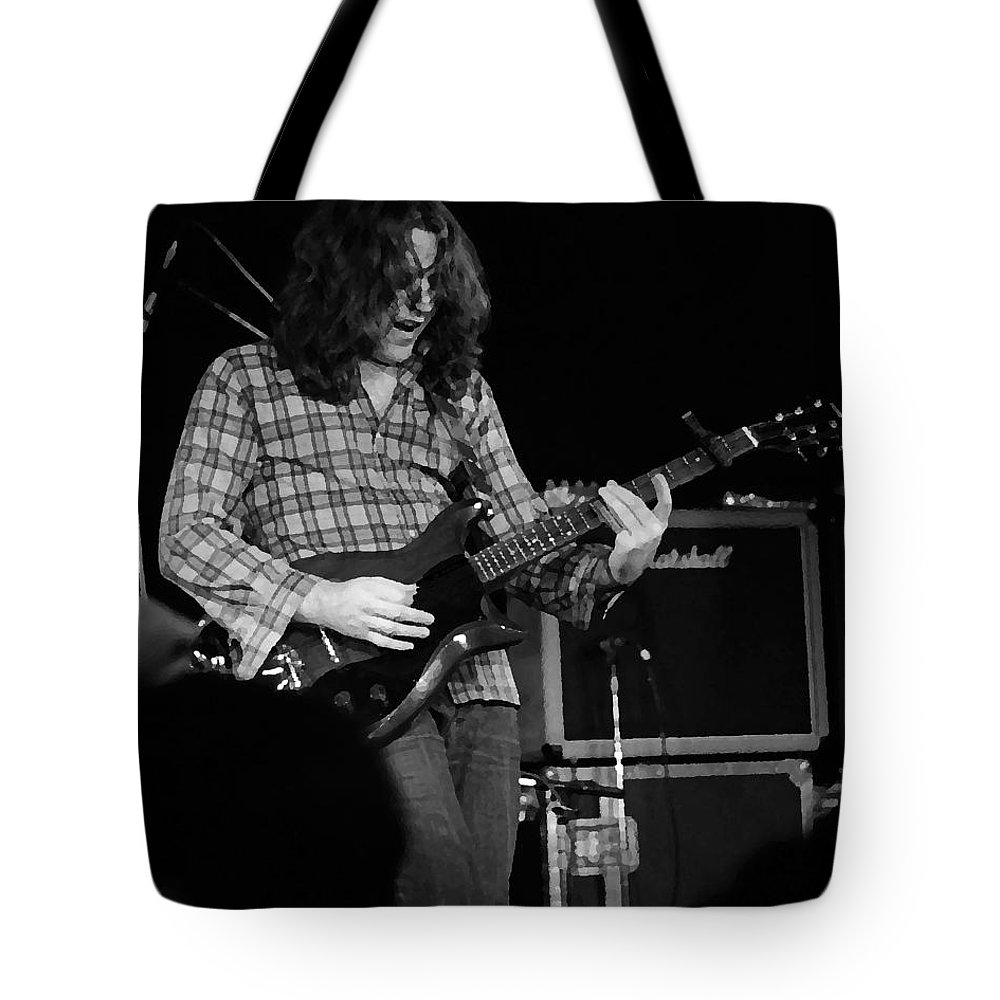 Slide Guitar Tote Bag featuring the photograph Kent #23 Crop 2 Enhanced Bw by Ben Upham