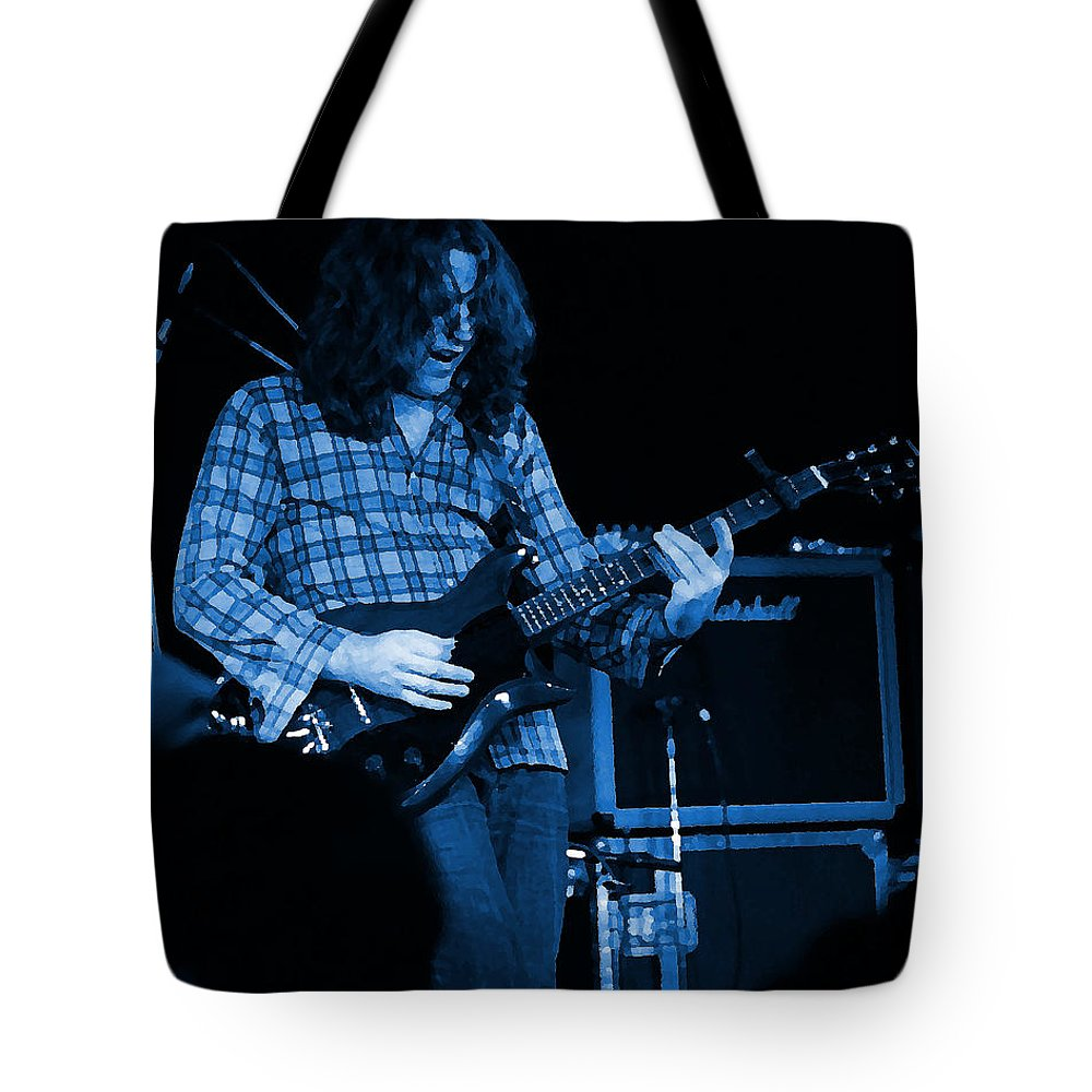 Musicians Tote Bag featuring the photograph Kent #23 Crop 2 In Blue by Ben Upham