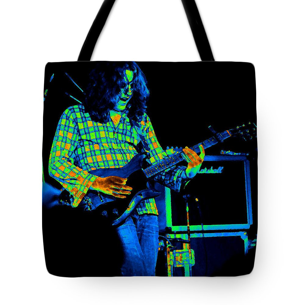 Slide Guitar Tote Bag featuring the photograph Kent #23 Crop 2 In Cosmicolors by Ben Upham