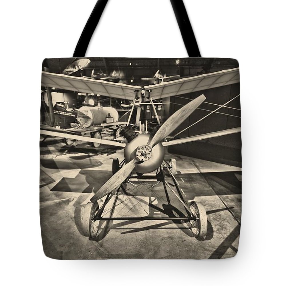 Kettering Aerial Torpedo Bug Tote Bag featuring the photograph Kettering Aerial Torpedo Bug by Dan Sproul