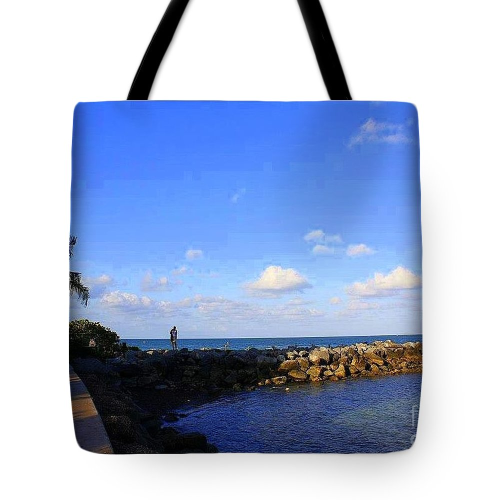 Key Biscayne Tote Bag featuring the photograph Key Biscayne Florida by Dora Sofia Caputo Photographic Design and Fine Art