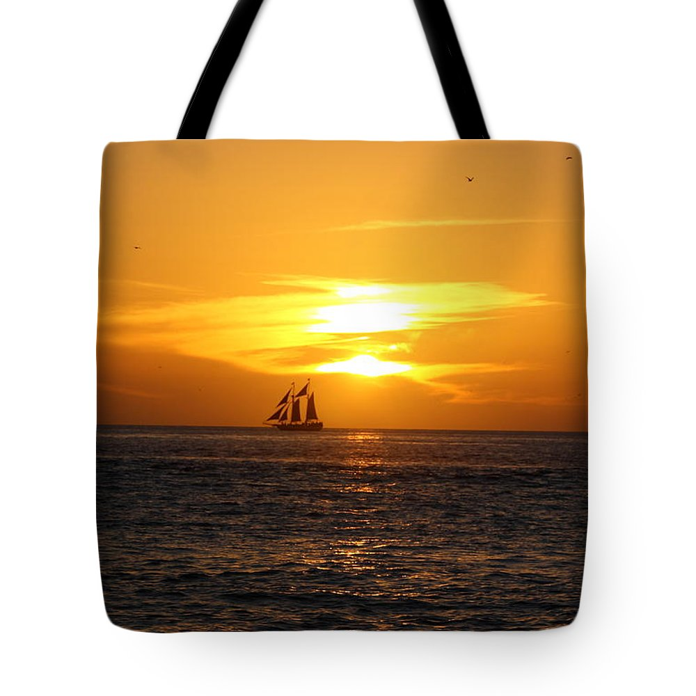 Key West Tote Bag featuring the photograph Key West Sunset by Katherine White