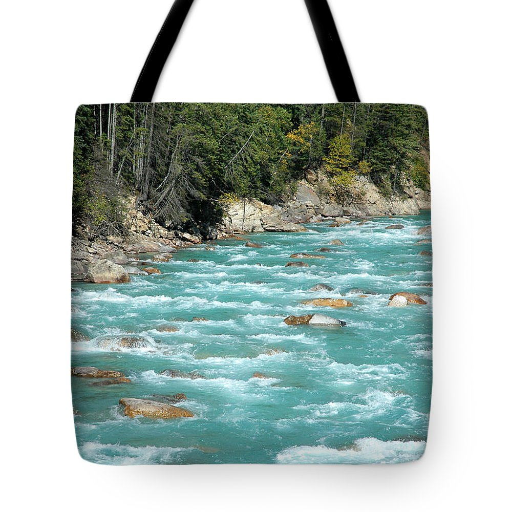 River Tote Bag featuring the photograph Kicking Horse River by Bob and Nancy Kendrick
